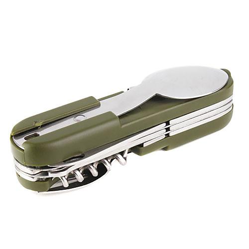9-в-1 переносной инструмент (вилка / ложка / штопор / пробка винт / нож / видел, армию зеленых) Lightinthebox 429.000