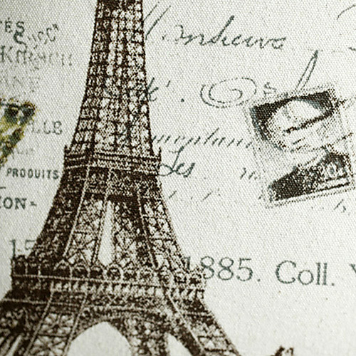 Париж стиля печати декоративную крышку подушки Lightinthebox 644.000