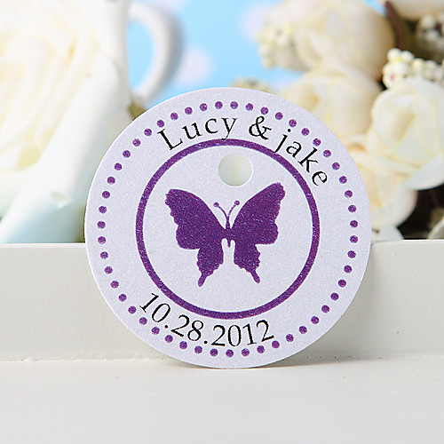 персонализированных теги пользу - фиолетовый бабочка (набор из 36) Lightinthebox 211.000