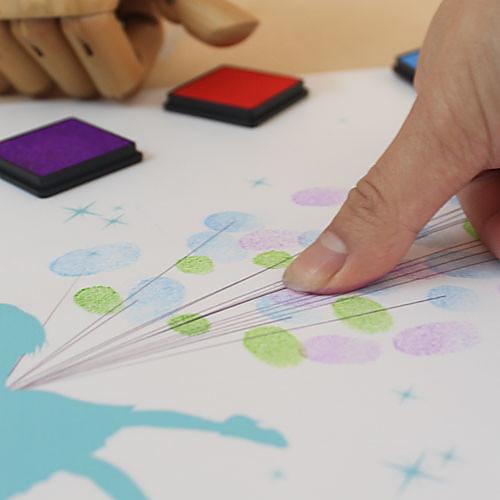 Именная свадебная открытка для отпечатков пальцев молодоженов ( краски 6 цветов, рамка не входит в комплект) Lightinthebox 1288.000
