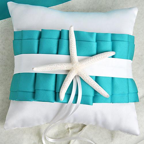 пляж тематический синий обручальное кольцо подушки с морскими звездами Lightinthebox 373.000