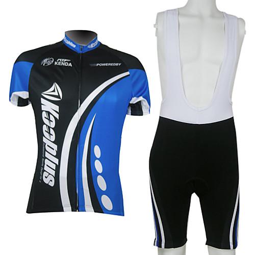 kooplus-мужской нагрудник с коротким рукавом велосипедные костюмы (черный и синий) Lightinthebox 2148.000