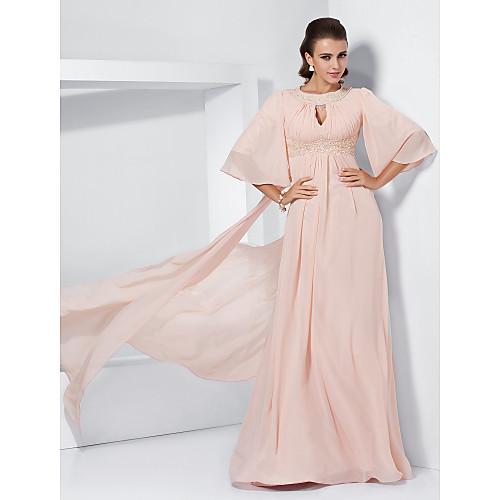 -линия жемчужина развертки / щетка поезд шифона вечернее / платье выпускного вечера вдохновленные Мелисса МакКарти Lightinthebox 5070.000