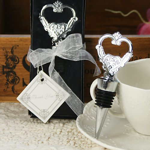 Сердце пробкой вина и открывалка для бутылок свадьбы пользу Lightinthebox 109.000