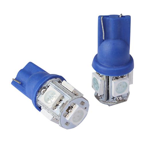 t10 0.18wx5 5-SMD 5050 привел машину чтении свет, постоянное 12v/pair (синий) Lightinthebox 85.000