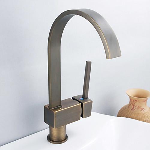 антикварный вдохновенный твердых Смеситель для кухни латунь - старинный бронзовый отделкой Lightinthebox 3437.000