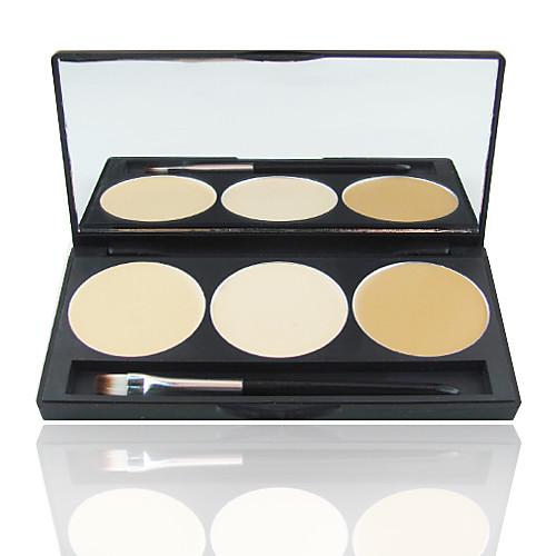 3 цвета 5в1 профессиональный корректор основой румяна бронзатор макияж косметическим палитра с зеркалом и Brush Set Lightinthebox 270.000