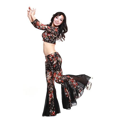 3-х частей танцевальная одежда кружево с печатью танца живота одежда для дам больше цветов Lightinthebox 1219.000