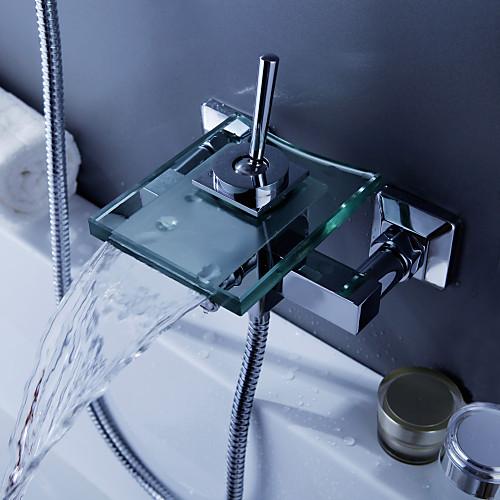 современной ванной кран водопада со стеклом носиком (настенное крепление) Lightinthebox 4296.000