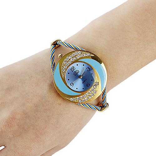Вихрь женщин кругом стиля стали аналоговые кварцевые часы браслет (разных цветов) Lightinthebox 285.000