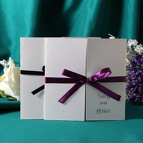 Приглашение на свадьбу с лентой (набор из 50, цвета ленты в ассортименте) Lightinthebox 1610.000