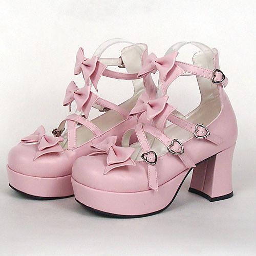 Туфли с бантиками для косплея Лолиты (каблук 7,5 см) Lightinthebox 2405.000