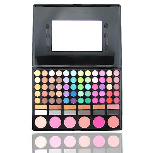 78 цвета 3in1 профессиональный 60 тени для век 12 помада 6 румяна макияж косметическим палитру с зеркалом и 2 губки аппликатора Lightinthebox 579.000