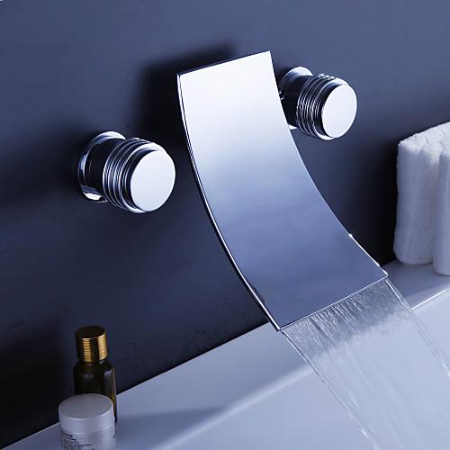 водопада широко современного смесителя ванной (хромированная отделка) Lightinthebox 3866.000