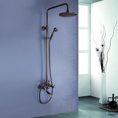 античный латунь ванной душа с 8-дюймовый верхний душ  ручной душ Lightinthebox 9453.000