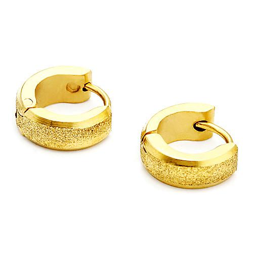 мужские титановые стали золотые песчаные серьги Lightinthebox 85.000