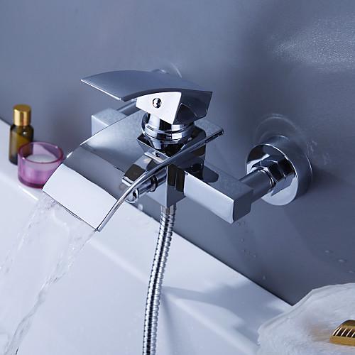 Современный смеситель-водопад для ванны (монтируется на стену)