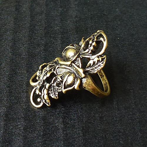бронзовый цветок резной Gothic Lolita кольцо Lightinthebox