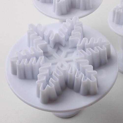 снежинка торт узор и печенья катер формы с плунжером (3 штуки) Lightinthebox 214.000