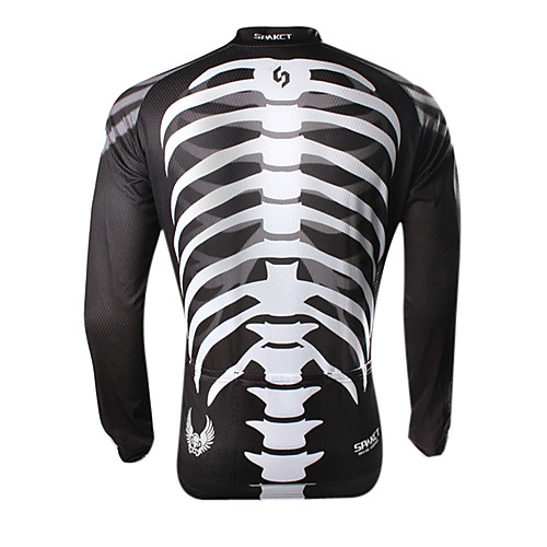 Мужское велосипедное джерси с длинным рукавом с принтом скелета Lightinthebox 1503.000