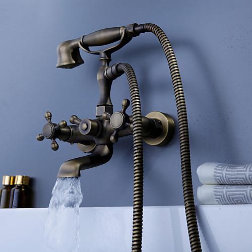 антикварные вдохновил кран ванны с ручным душем (античные закончить латунь)