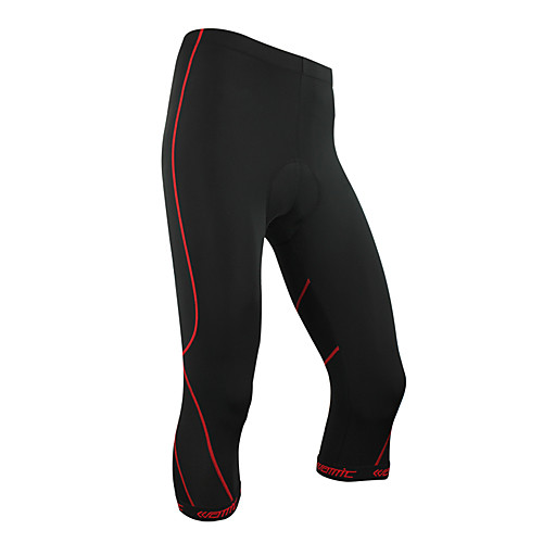 Сантич-мужских Coolmax материал велосипедные 3/4 шорты красный след Lightinthebox 858.000