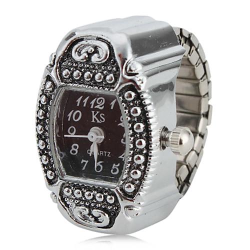 lightinthebox / Mujer Reloj de Anillo Reloj cuadrado Japonés Cuarzo Plata Analógico damas Encanto Un año Vida de la Batería / SSUO SR626SW
