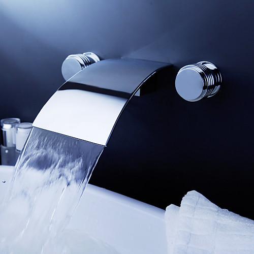 широко распространенный современный хром ванной комнате раковина смеситель с всплывающее отходов Lightinthebox