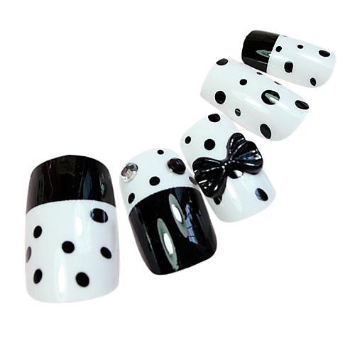 черная точка стиль ложные советы ногтей Lightinthebox 149.000