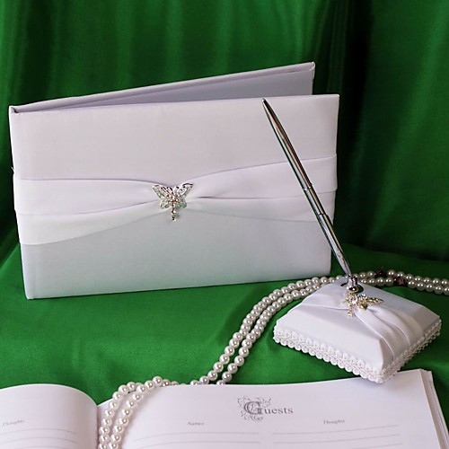 бабочка история свадебного гостевая книга и перо набор
