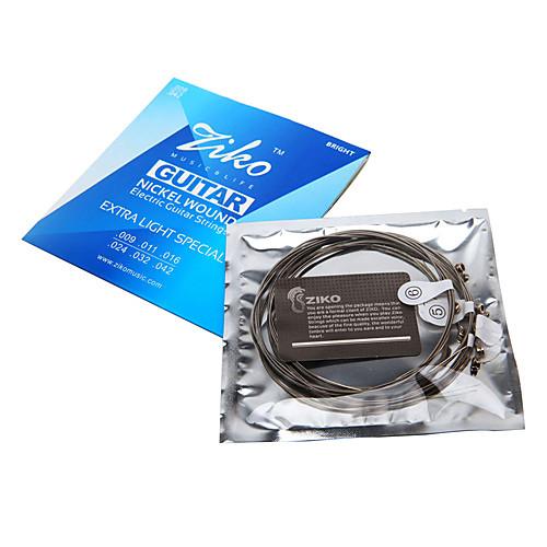 Зико - высоким содержанием никеля рану Струны для электрогитары (009-042) Lightinthebox 214.000