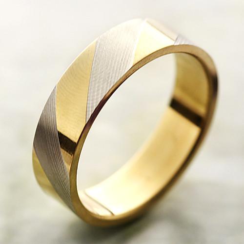 Кольцо с золотистыми полосками из титановой стали Lightinthebox 128.000