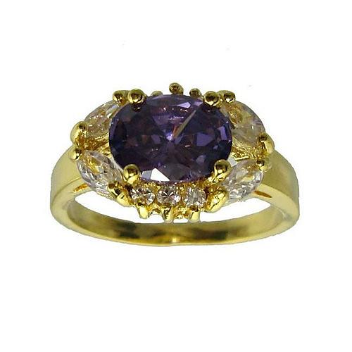 18-каратного золота сплетши и моды кольца верхнего уровня кубического циркония женская верхняя одежда (больше цветов) Lightinthebox 437.000