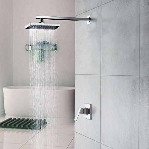 Смеситель для душа настенный с тропическим душем, хромированная отделка (0758-HM-6109) Lightinthebox 2405.000