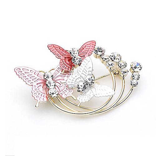 великолепный сплав с брошью бабочки стразами Lightinthebox 309.000