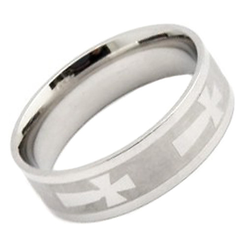 унисекс крестом картины титана стальное кольцо Lightinthebox 128.000