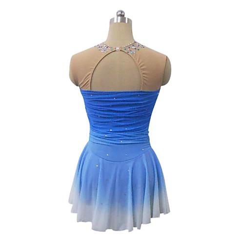 Платье без рукавов для фигурного катания. С вырезом на спине