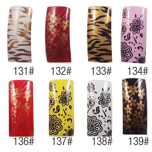70 шт полное покрытие изящный французский акриловые ногти Советы 8 цветов Lightinthebox 300.000