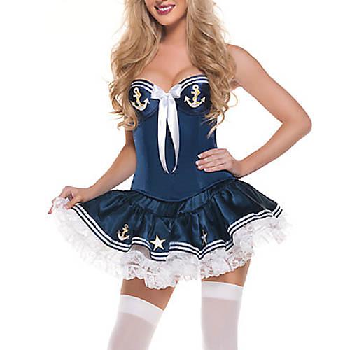 Sexy синий костюм Sailor полиэстер с лентой Lightinthebox 858.000