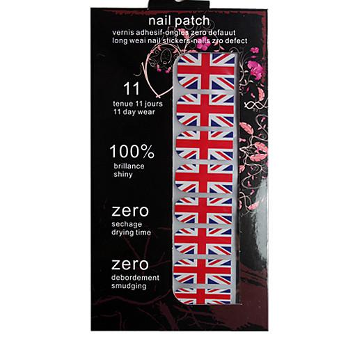 полный флаг крышку наклейки Великобритании стиль ногтей Lightinthebox 85.000