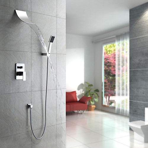 Современный смеситель для душа водопад с душем  ручной душ (настенное крепление) Lightinthebox 8593.000