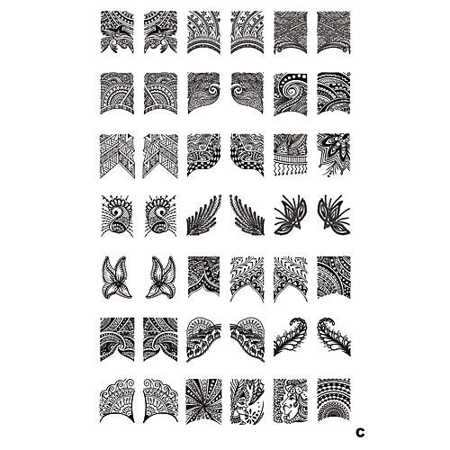 42 Pattern Nail Art Stamp штамповка плиты изображения шаблона Lightinthebox 515.000