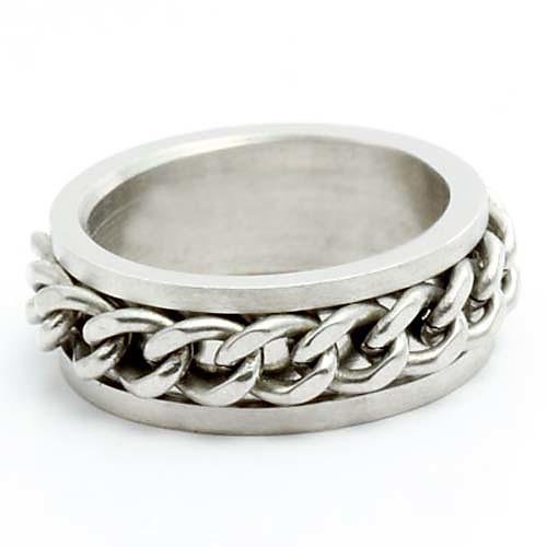 унисекс металлические цепи титана стальное кольцо Lightinthebox 128.000