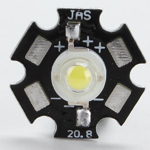 6000-6500k 1w 100-110lm 350mAh белый Светодиодная лампа с алюминиевой пластины (3,0 3,4) Lightinthebox 42.000
