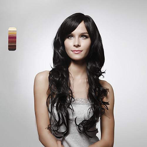 Парик без шапочки из натурального длинного волнистого волоса (5 цветов) Lightinthebox 6245.000