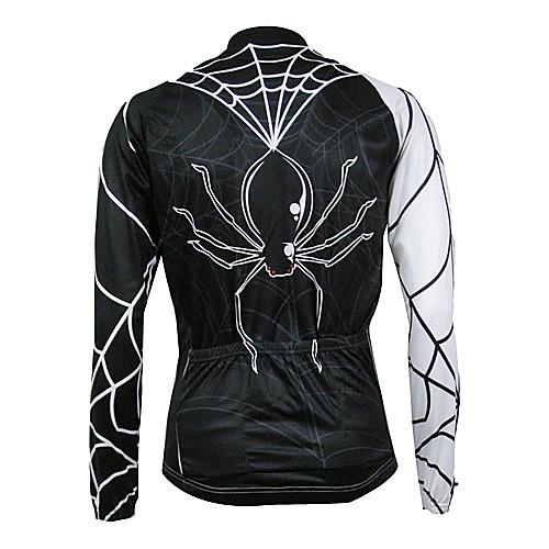 Kooplus Quick Dry Мужская с длинным рукавом Велоспорт-Джерси (Spider Design) Lightinthebox 1718.000