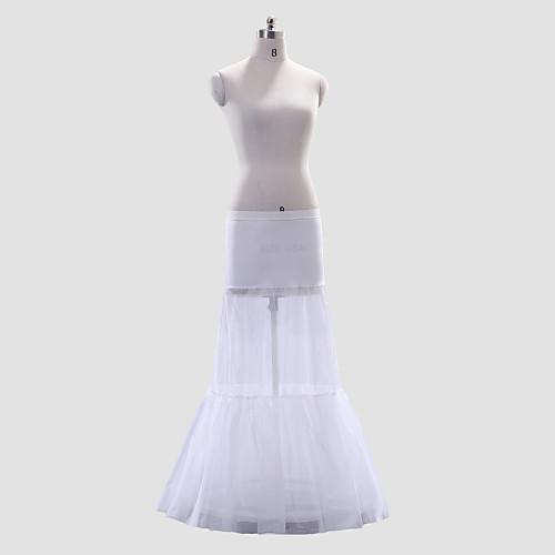 Полиэстер A-Line/Short Flare Полная длина Свадебный стиль скольжения / юбка Lightinthebox 1288.000