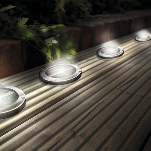 Набор из 4 белый солнечный свет палубе, нержавеющая сталь Lightinthebox 2062.000