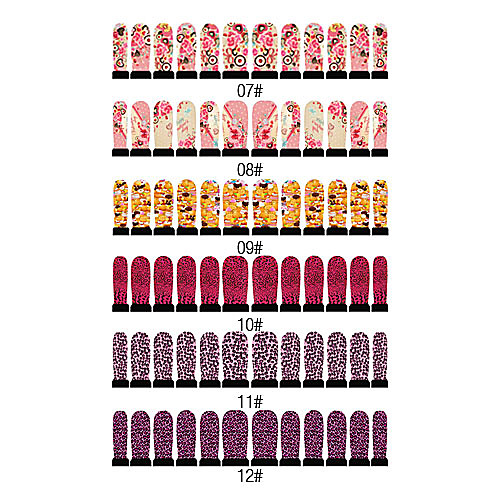 12PCS ногтей Nail Art Наклейки Шесть Pattern Выбрать Lightinthebox 85.000