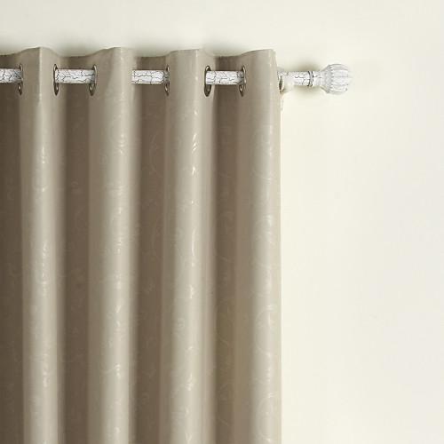 номер потемнение тиснением слоновой кости твердого занавес (две панели) Lightinthebox 2577.000